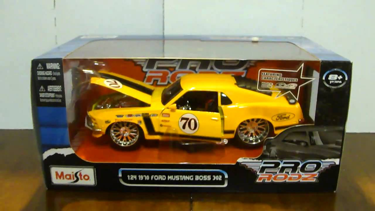 1970 Ford Mustang Boss 302 >> 1970 Ford Mustang Boss 302 Pro Rodz Maisto 1:24 - YouTube