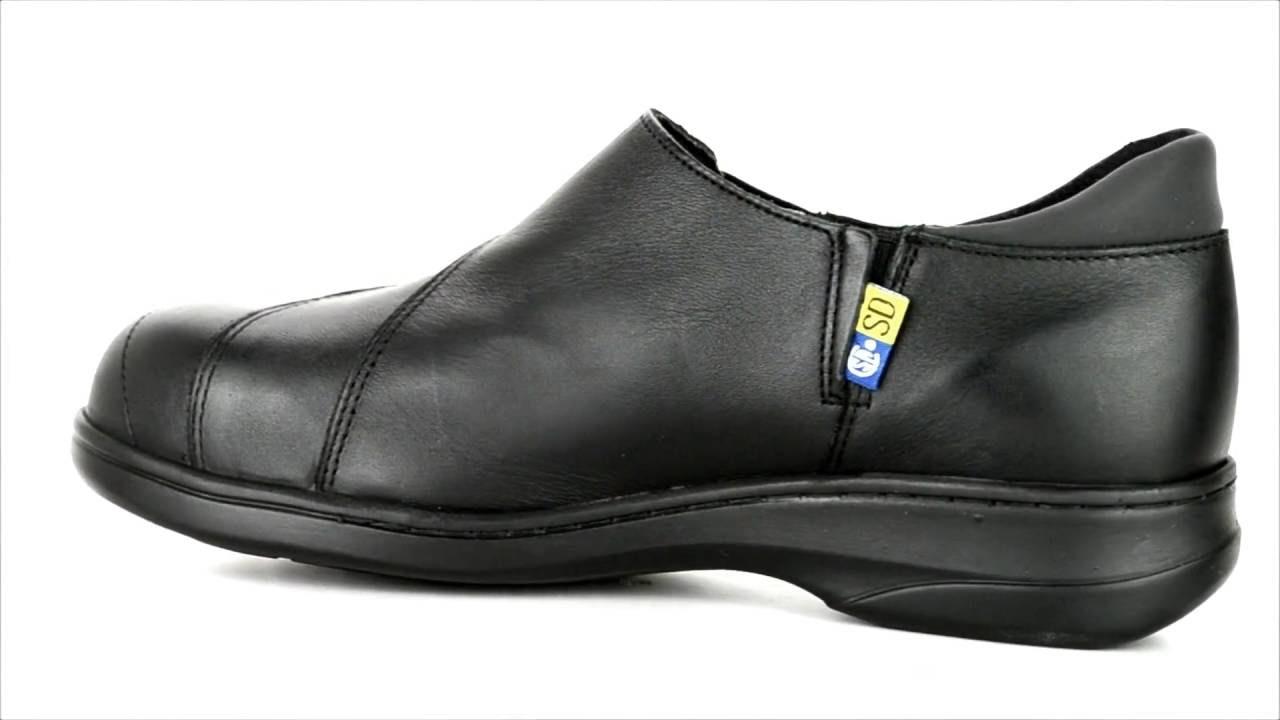 s mellow walk steel toe slip on work shoe 424092