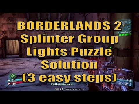 Splinter Group Puzzle Solution - Borderlands 2 (3 easy steps)