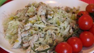 Салат из редьки с мясом и луком