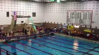 Callie - 100m backstroke Lane 3 - (5/4/13)