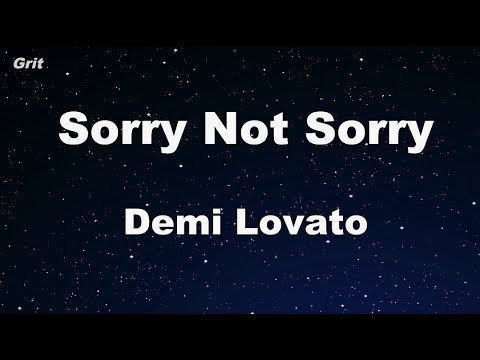 Sorry Not Sorry - Demi Lovato Karaoke 【With Guide Melody】 Instrumental
