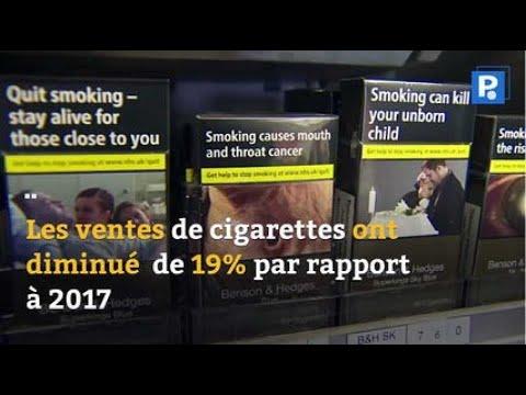 La vente de tabac est en nette diminution  en France
