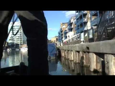 Speeded up Canal Journeys - Lea Navigation and Limehouse Cut - Old Ford to Limehouse Basin