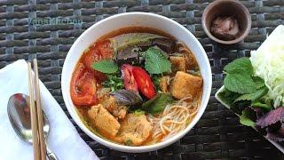 vietnamese crab noodle soup bún riêu