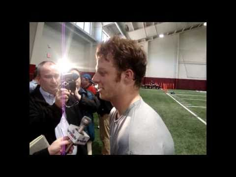 Greg McElroy pro day workout