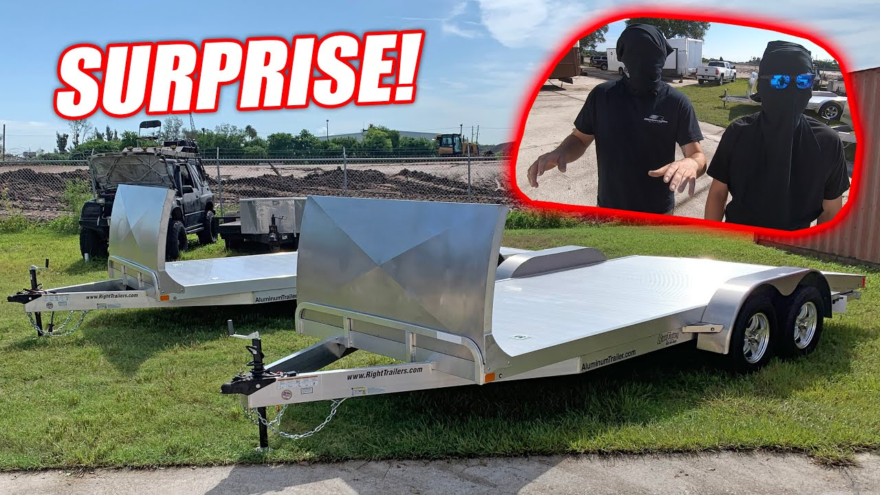 Surprising My Guys With SWEET New Aluminum Car Trailers! (1 5 Million  Subscribers Celebration)