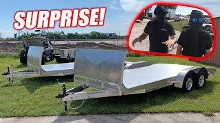 Download Surprising My Guys With SWEET New Aluminum Car Trailers! (1.5 Million Subscribers Celebration) Mp3 and Videos