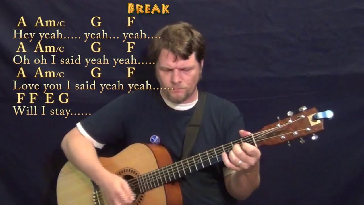 Under the Bridge RHCP Guitar Lesson Chord Chart with Chords/Lyrics