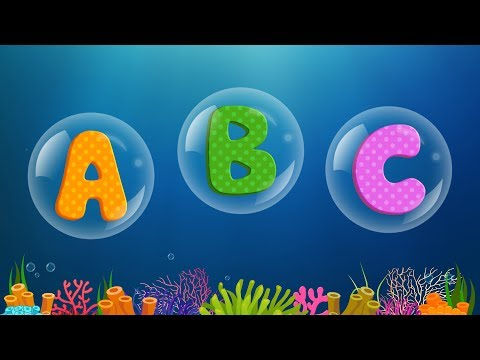 ABC Songs for Children - ABCD Song in Under Sea - Phonics Songs & Nursery Rhymes