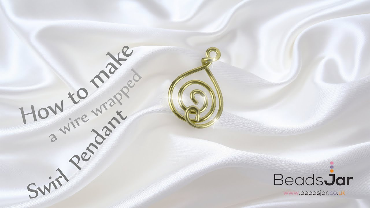 How to make a wire wrapped swirl pendant - YouTube