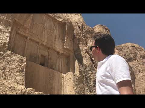 Shapur I before the tomb of Darius the Great in Naqsh-e Rostam, Iran