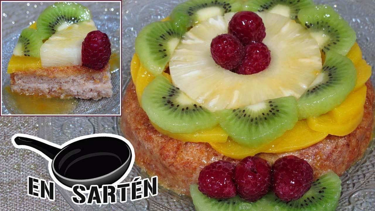 Tarta frutas EN SARTÉN! VEGAN| SIN GLUTEN| SIN AZÚCAR AÑADIDO/ SALUDABLE