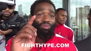 ADRIEN BRONER SAYS HE'S SPARRING MAYWEATHER FOR MCGREGOR FIGHT; HEADING TO VEGAS AFTER GARCIA CLASH thumbnail