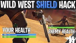 How to Cheat Getting Shield in Fortnite Wild West LTM