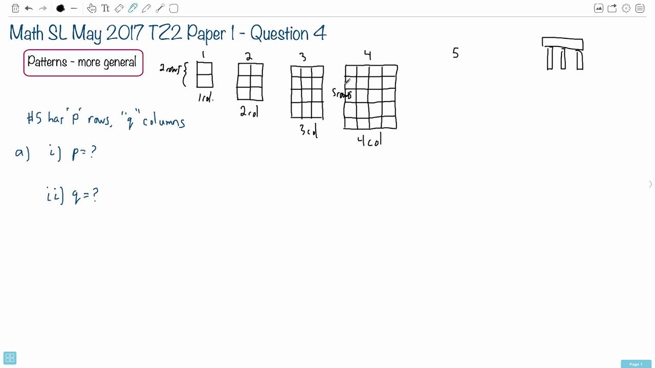 Question 4a — IB Math SL — May 2017 TZ2 Paper 1 — Past IB Exams Solutions