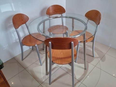 Unboxing y montaje ikea salmi mesa vidrio cromado youtube for Ikea mesa de cristal