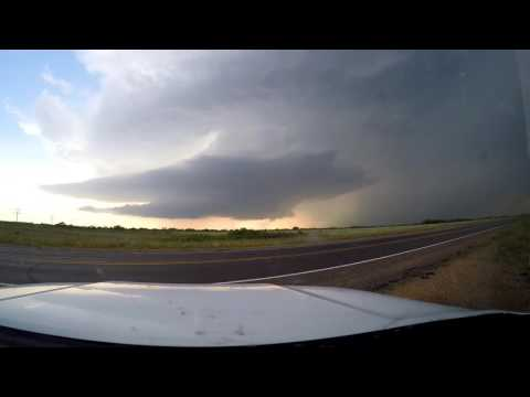 Supercell Timelapse Near Turkey, Texas - May 23, 2016
