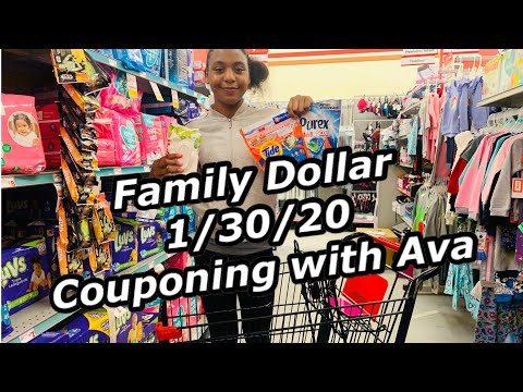 Family Dollar Couponing With Ava 1/30/20 | $11 OOP DIGITAL COUPONS!