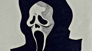 How to draw Ghostface, the SCREAM Killer (Easy)