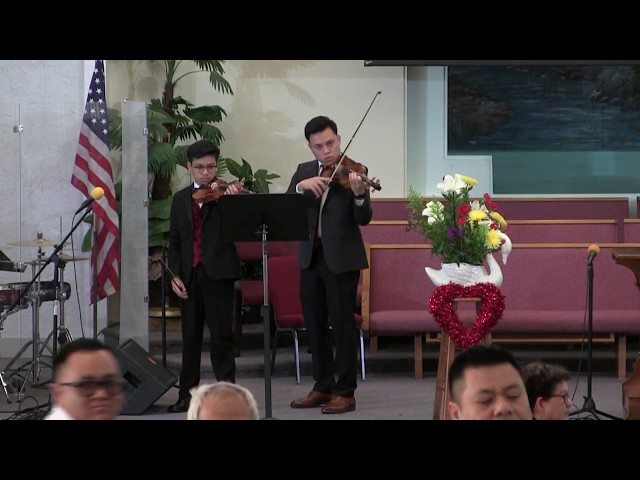 Renewal of Vows prelude with Ian & Micah Luna, Feb. 16, 2019