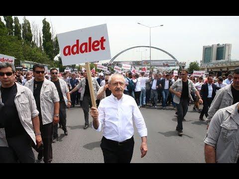 CHP Lideri Kemal Kılıçdaroğlu'nun 'Adalet Yürüyüşü' başladı