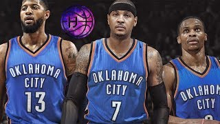 Okc's big 3 dominates in their final preseason game!! thunder vs nuggets!