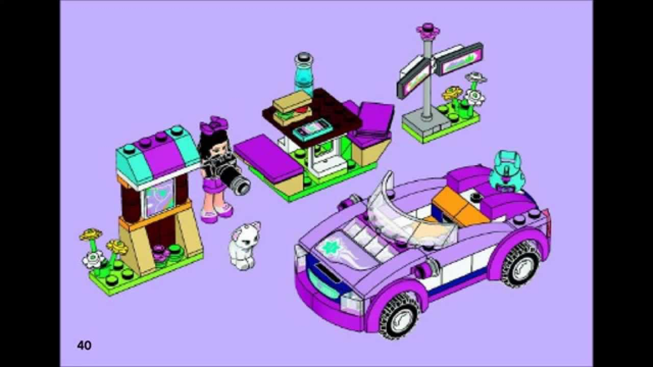 Lego Friends 41013 Emmas Sports Car Building Instructions Youtube