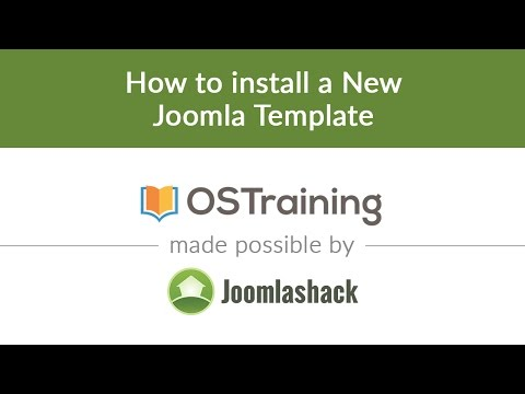 Joomla Beginner Class, Lesson 34: How to Install a New Joomla Template
