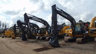 Video still for Buyers Test Excavators at Alex Lyon & Son Florida Auction 2018