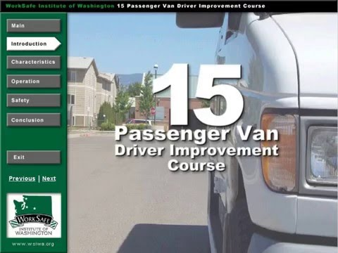15 Passenger Van Training