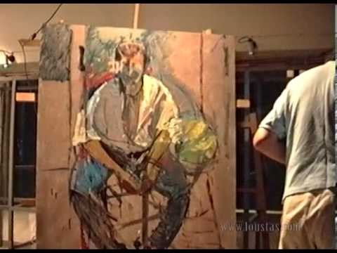 Kostas Loustas is painting Harry Klynn