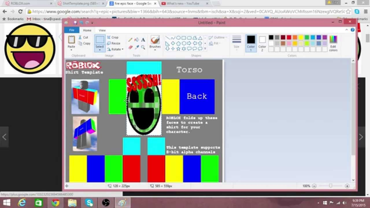 roblox how to make a shirt in roblox  with paint net