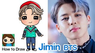 How to Draw a Jimin BTS mini Idol Doll