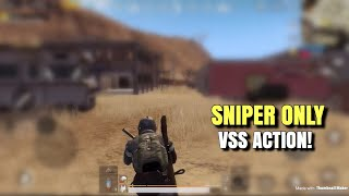 VSS Is Actually Good | PUBG Mobile | Sniper Only!
