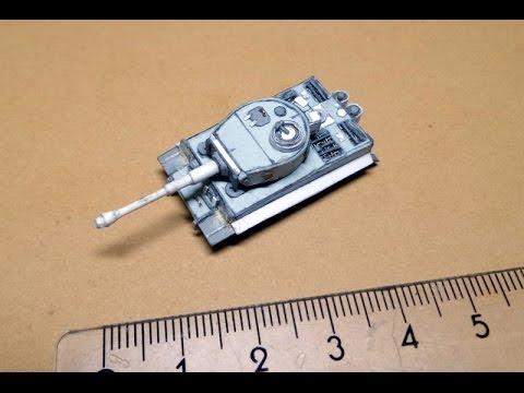 Tiger 1 из бумаги (2 часть)
