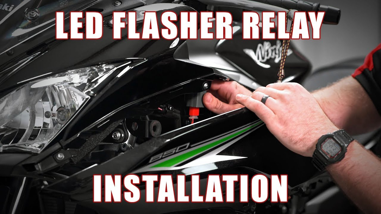 how to install an led flasher relay on a 2017 kawasaki ninja 650 by tst industries [ 1280 x 720 Pixel ]