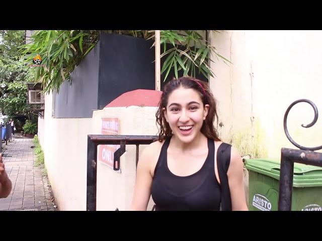 SARA ALI KHAN SPOTTED AT DANCE REHEARSAL HALL ANDHERI FUN