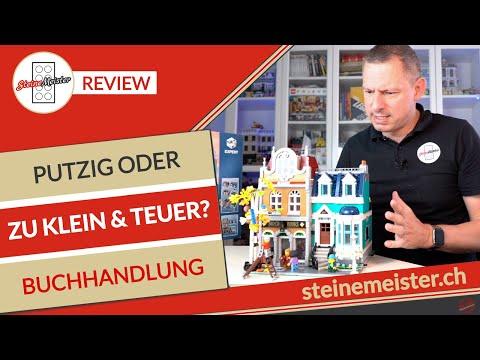 Vorne Top hinten Flop mit Farbunterschiede? Lego® Buchhandlung 10270 Review zu klein und teuer?