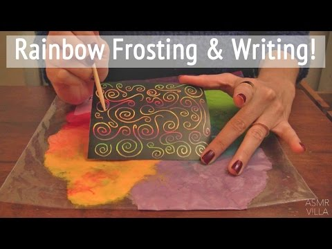 ASMR * Theme: Rainbow Frosting & Writing * Tapping & Writing Sounds * No Talking * ASMRVilla