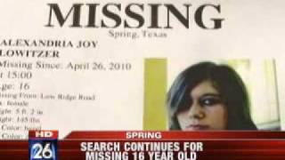 Search Resumes for Missing Teen Girl~Alexandria Lowitzer