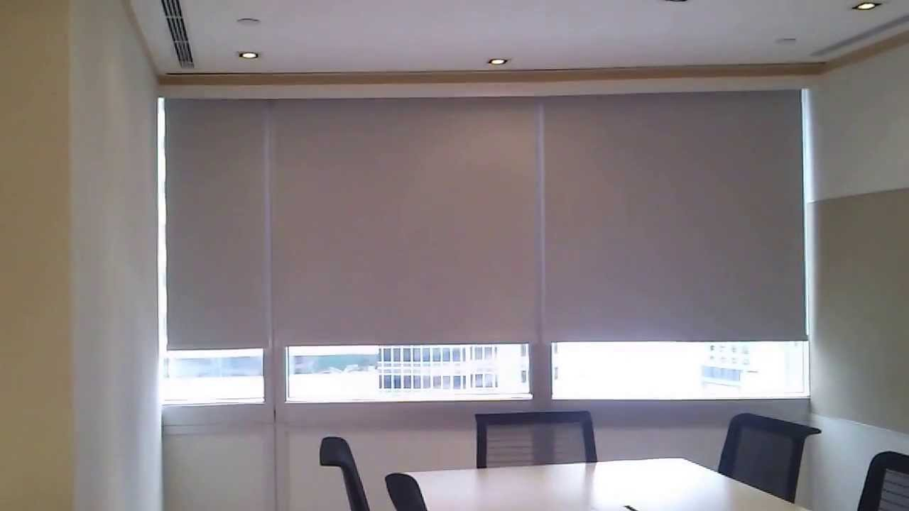 Somfy Motorized Roller Blinds St30 Dc Motor Youtube
