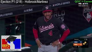 Ejection P1 (218) - Sam Holbrook Ejects Dave Martinez in the World Series