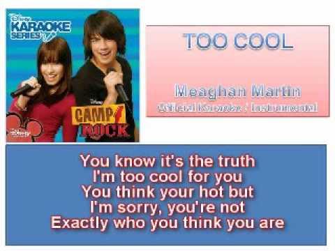 06 Too Cool - Official Karaoke  (Lyrics)
