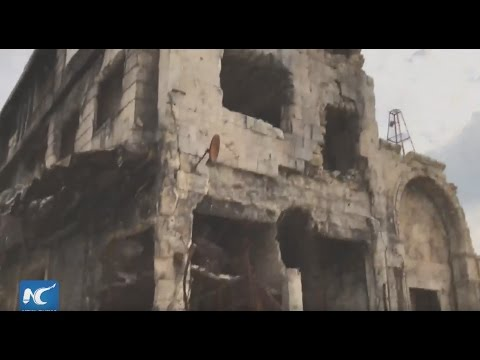 Live: Damage and destruction in old town of Aleppo