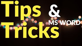 Ms-Word cool Tricks. Rajiv Mishra