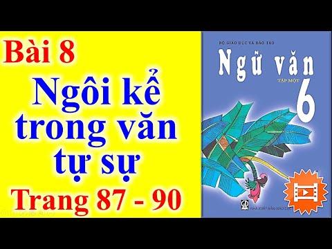 Ngữ Văn Lớp 6 Bài 8 – Ngôi kể trong văn tự sự - Trang 87 – 90
