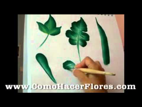 Tipos de hojas para plantas de como pintar flores - YouTube