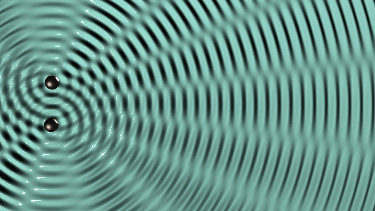 112 - Interference between two circular waves on the water ...