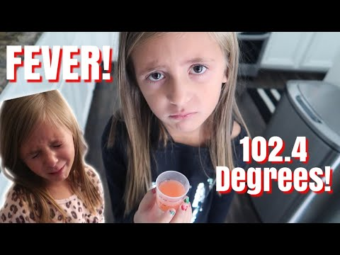 She Got SENT HOME with a FEVER! / FEELING SICK TO HER STOMACH / Will She Be Healthy for HALLOWEEN?